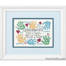 Grandparents Touch a Heart Mini Counted Cross Stitch Kit by Dimensions