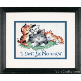 I Don't Do Mornings Mini Counted Cross Stitch Kit by Dimensions