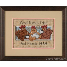 Good Friends Listen Mini Counted Cross Stitch Kit by Dimensions