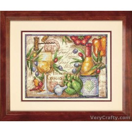 Pinot Grigio Printed Cross Stitch Kit by Dimensions