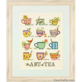 The Art of Tea Counted Cross Stitch Kit by Dimensions
