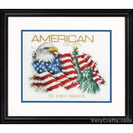 American Patriot Counted Cross Stitch Kit by Dimensions