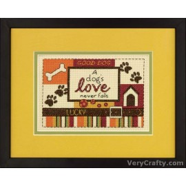 A Dog's Love Counted Cross Stitch Kit by Dimensions