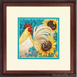 Gold Petite: Rooster Counted Cross Stitch Kit by Dimensions