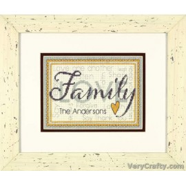 Family Counted Cross Stitch Kit by Dimensions