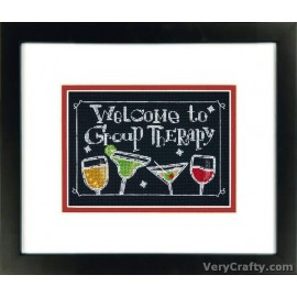 Group Therapy Counted Cross Stitch Kit by Dimensions