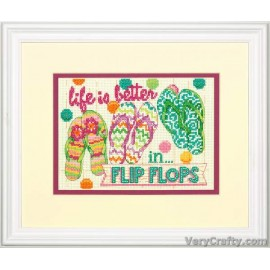 Flip Flops Mini Counted Cross Stitch Kit by Dimensions