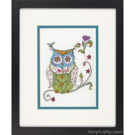 Blooming Owl Counted Cross Stitch Kit by Dimensions