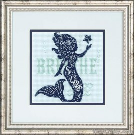 Mermaid Song Counted Cross Stitch Kit by Dimensions