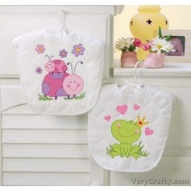 Bibs: Fairy Printed Cross Stitch Kit by Dimensions