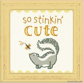 Crewel: So Stinkin' Cute Embroidery Kit by Dimensions