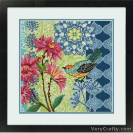 Blue Floral Tapestry Kit by Dimensions