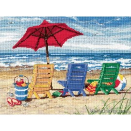 Beach Chair Trio Tapestry Kit by Dimensions