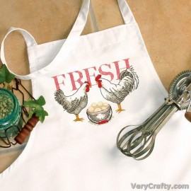 Apron: Rooster Printed Cross Stitch Kit by Dimensions