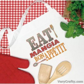 Apron: Good Eats Printed Cross Stitch Kit by Dimensions