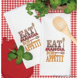Hand Towels: Good Eats Printed Cross Stitch Kit by Dimensions