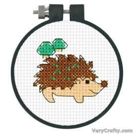 Learn-a-Craft: Hedgehog Counted Cross Stitch Kit with Hoop by Dimensions