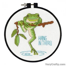 Learn-a-Craft: Hanging In Counted Cross Stitch Kit with Hoop by Dimensions