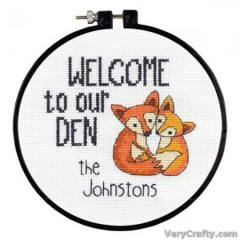 Learn-a-Craft: Our Den Counted Cross Stitch Kit with Hoop by Dimensions