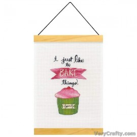 Banner: Just Like To Bake Counted Cross Stitch Kit by Dimensions