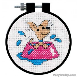 Learn-a-Craft: Perky Puppy Counted Cross Stitch Kit with Hoop by Dimensions