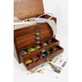 DMC Wooden Collector's Box Includes all 500 Stranded Cottons