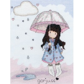 Gorjuss - Puddles Of Love - Cross Stitch Kit from Bothy Threads