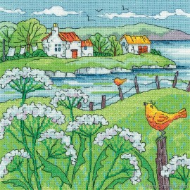 Cow Parsley Shore Counted Cross Stitch Kit from Heritage Crafts