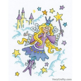 Fairy Princess Counted Cross Stitch Kit from Heritage Crafts