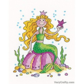 Mermaid Counted Cross Stitch Kit from Heritage Crafts