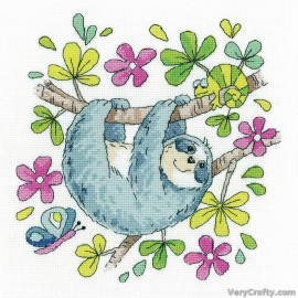 Sloth Counted Cross Stitch Kit from Heritage Crafts