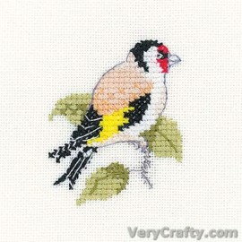 Goldfinch (little Friends) Counted Cross Stitch Kit from Heritage Crafts