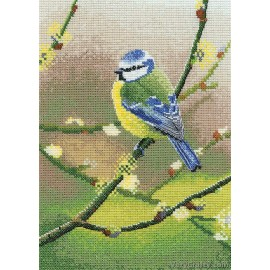 Blue Tit Counted Cross Stitch Kit from Heritage Crafts