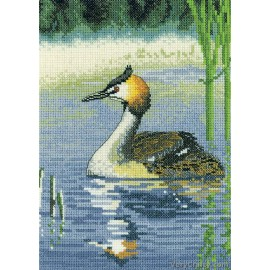 Grebe Counted Cross Stitch Kit from Heritage Crafts