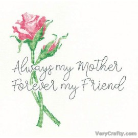 Always My Mother Counted Cross Stitch Kit from Heritage Crafts