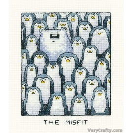 The Misfit Counted Cross Stitch Kit from Heritage Crafts
