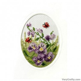 Baby Boy Orchidea Cross Stitch Card Kit