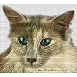 Angora Cat (Lilac)  - Cross Stitch Chart