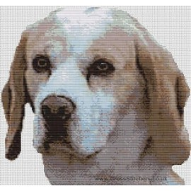Beagle  - Dog Cross Stitch Chart