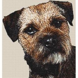 Border Terrier - Dog Cross Stitch Chart