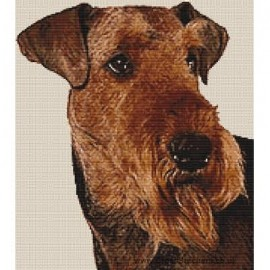 Airedale Terrier - Dog Cross Stitch Chart