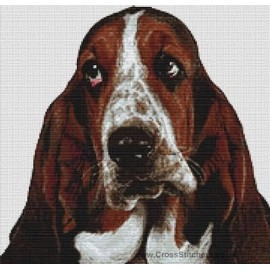 Bassett Hound - Dog Cross Stitch Chart