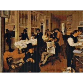 Degas - Cotton Exchange Cross Stitch Chart by Email