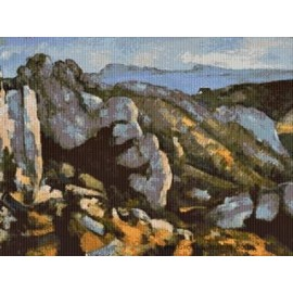 Cezanne - L'Estaque Cross Stitch Chart by Email