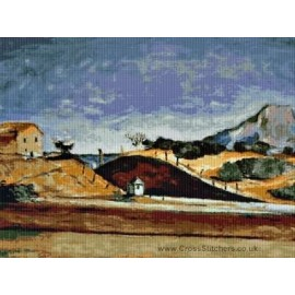 Cezanne - Railway Cutting Cross Stitch Chart by Email