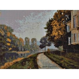 Caillebotte -  Riverbank Cross Stitch Chart