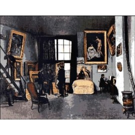 Bazille  - The Artists Studio Cross Stitch Chart by Email