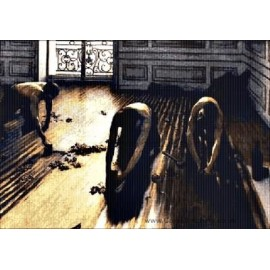 Caillebotte - The Floor Strippers Cross Stitch Chart