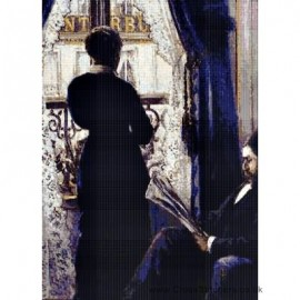 Caillebotte - View Across a Balcony Cross Stitch Chart