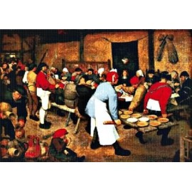Bruegel - The Peasant Wedding Banquet Cross Stitch Chart by Email